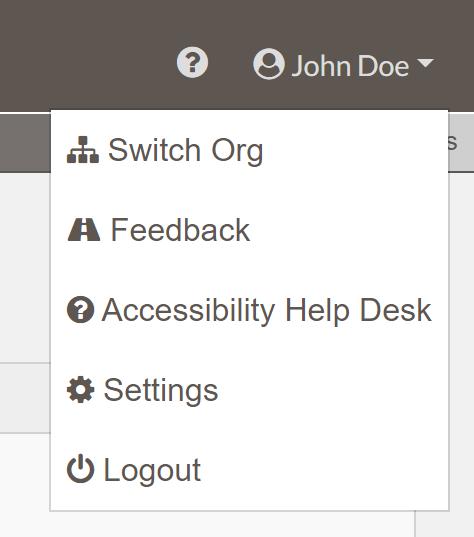 user navigation open